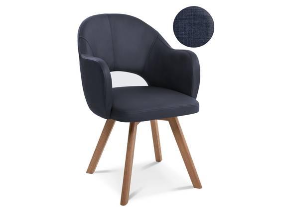 DOLORA Schalenstuhl, Gestell Massivholz ohne Drehfunktion | Stoff | blau DETAIL_IMAGE