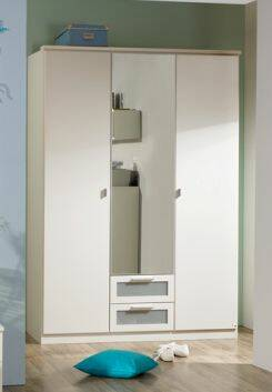 COOKIE Drehtürenschrank 91 cm | Alpinweiss/grau DETAIL_IMAGE 1