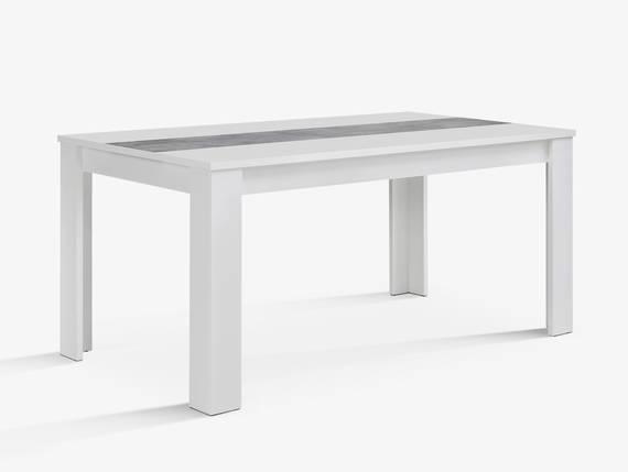 EMARA Esstisch 160x90 cm, Material Dekorspanplatte, weiss/betonfarbig  DETAIL_IMAGE