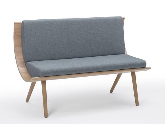 emely bank mit r ckenlehne teilmassiv 175 cm eiche sonoma grau. Black Bedroom Furniture Sets. Home Design Ideas