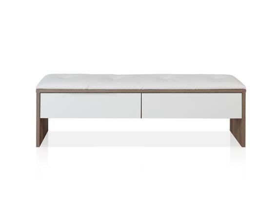 EVANDO Sitzbank mit Schubkasten, Material Dekorspanplatte, Picea kieferfarbig/weiss  DETAIL_IMAGE