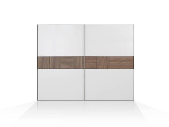 EVANDO Schiebetürenschrank, Material Dekorspanplatte, Picea kieferfarbig/weiss 270 cm DETAIL_IMAGE