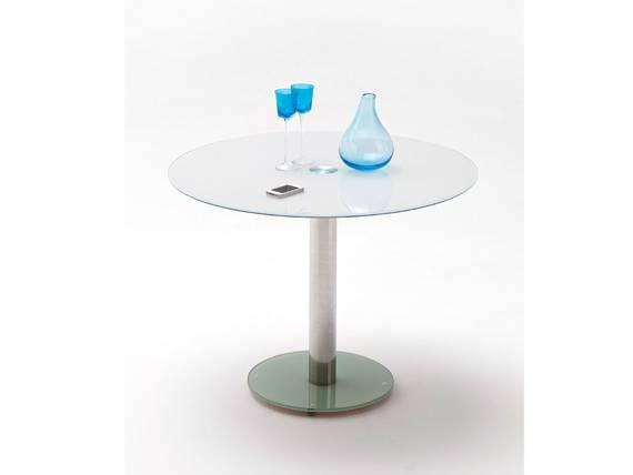 falk esstisch runder glasesstisch weiss. Black Bedroom Furniture Sets. Home Design Ideas