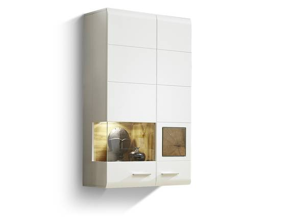 FELIPA Hängevitrine, Material MDF, weiss/eichefarbig/Hirnholz Design  DETAIL_IMAGE