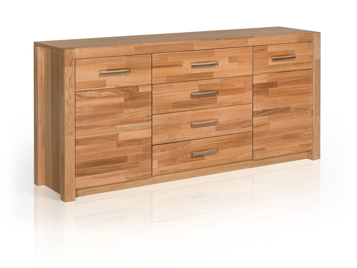 fanja sideboard massivholz wildeiche teilmassiv. Black Bedroom Furniture Sets. Home Design Ideas