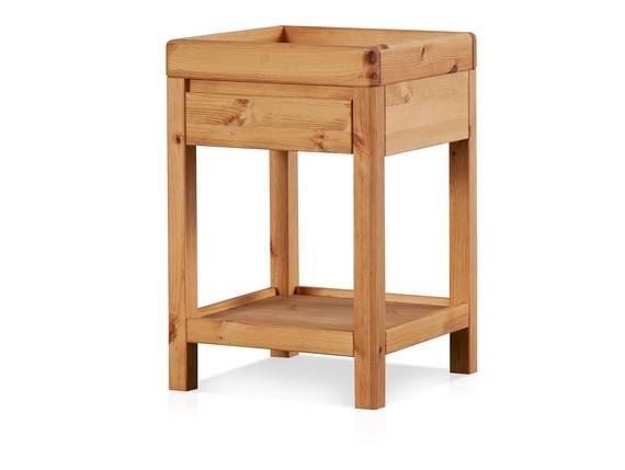 RICHY Telefontisch, Material Massivholz, Kiefer eichefarbig gebeizt  DETAIL_IMAGE