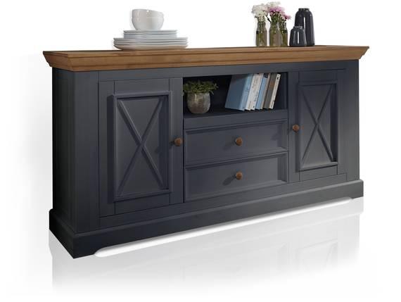BORNHOLM II Sideboard II, Material Massivholz, Kiefer grau/eichefarbig  DETAIL_IMAGE