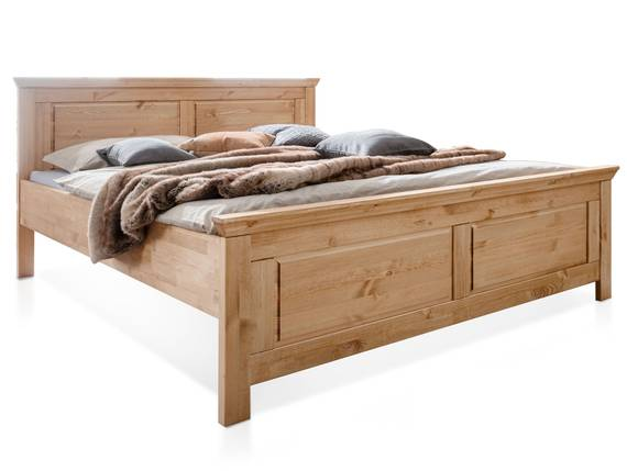 PALERMO Doppelbett 180x200 cm, Material Massivholz, Kiefer eichefarbig gebeizt  DETAIL_IMAGE