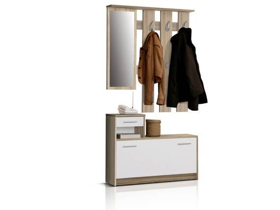 FIT Garderobe, Material Dekorspanplatte, Eiche sonomafarbig/weiss  DETAIL_IMAGE