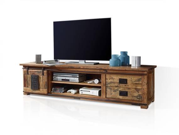 BRISTOL TV-Board II, Material Massivholz, Mango rustikal  DETAIL_IMAGE