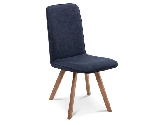 GLORIA Polsterstuhl, Gestell Massivholz ohne Drehfunktion | Stoff | blau DETAIL_IMAGE