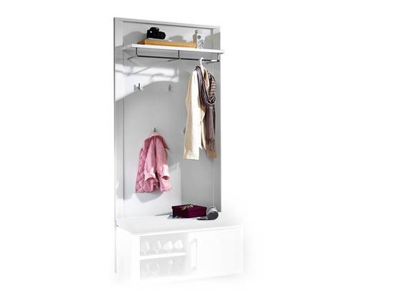 GRANDE Garderobenpaneel, Material Dekorspanplatte, weiss Hochglanz  DETAIL_IMAGE