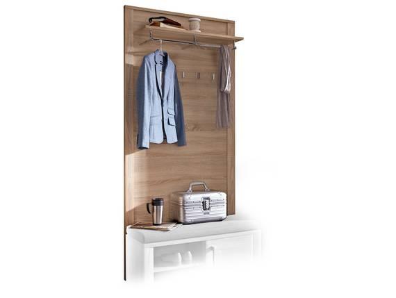 GRANDE Garderobenpaneel, Material Dekorspanplatte, Eiche sonomafarbig  DETAIL_IMAGE