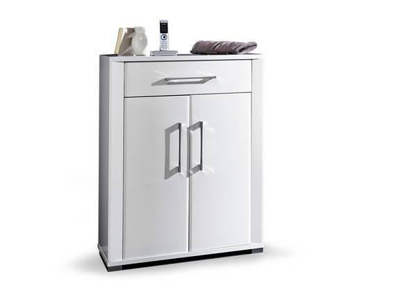 GRANDE Schuhschrank, Material Dekorspanplatte, weiss Hochglanz  DETAIL_IMAGE