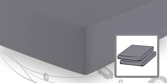Frottee-Stretch Spannbetttuch 140x200 bis 160x200 graphit DETAIL_IMAGE