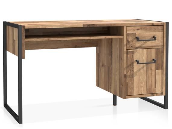 HANIKA Schreibtisch, Material Dekorspanplatte, eichefarbig  DETAIL_IMAGE
