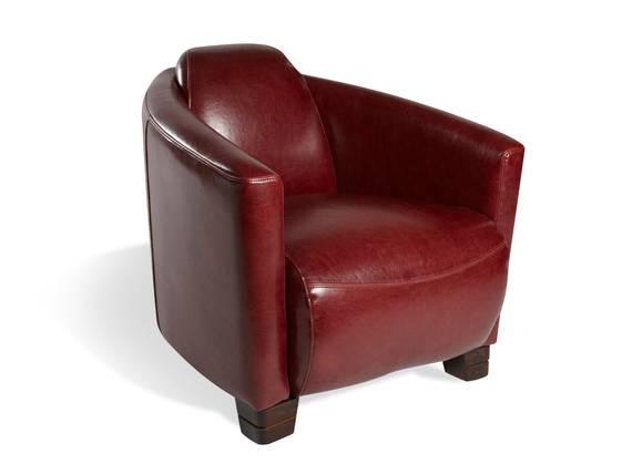 HEDWIG Loungesessel, Material Echtleder, bordeaux  DETAIL_IMAGE