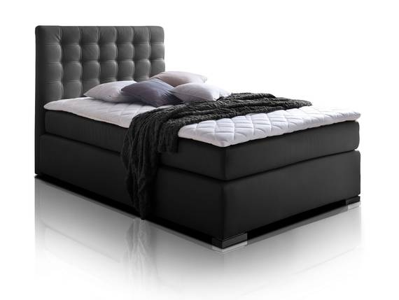 isabell plus boxspringbett 90 x 200 cm schwarz h rtegrad 2. Black Bedroom Furniture Sets. Home Design Ideas