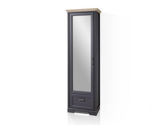 JADY Garderobenschrank mit Spiegeltüre, Material MDF graphitfarbig/eichefarbig DETAIL_IMAGE