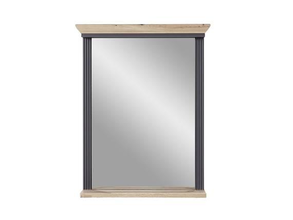 JADY Spiegel mit Ablage, Material MDF graphitfarbig/eichefarbig | 65 x 83 cm DETAIL_IMAGE