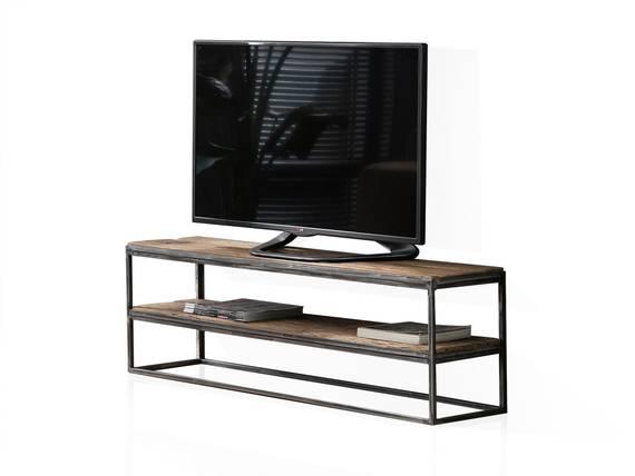 JASCHA TV-Lowboard, Material Massivholz, rustikal mit Metallgestell 150 cm DETAIL_IMAGE