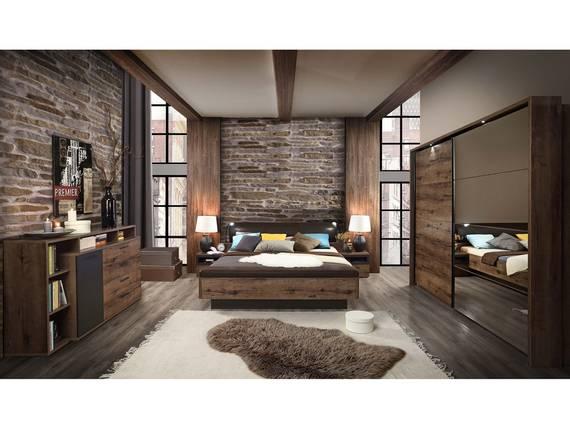 JESOLO Komplett Schlafzimmer, Material Dekorspanplatte, schlammeichefarbig  DETAIL_IMAGE
