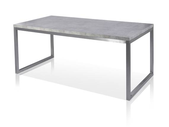 JONATHAN Esstisch 180x90 cm, Material MDF, betonfarbig  DETAIL_IMAGE