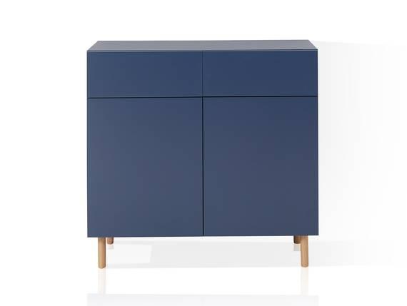 KALI Kommode 2 mit 2 Türen+2 Schubkästen, Material MDF blau DETAIL_IMAGE