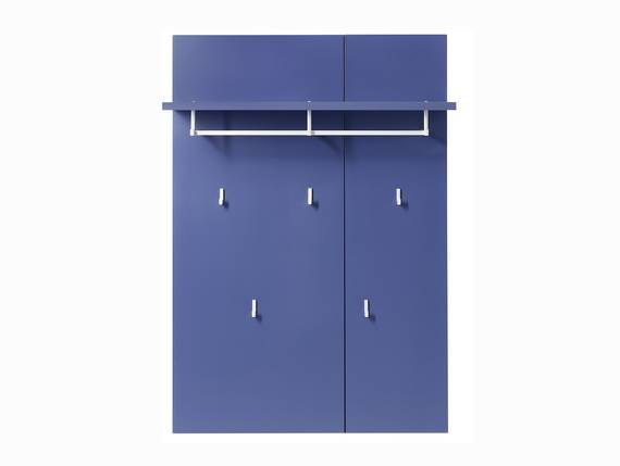 KALI Garderobenpaneel, Material MDF blau DETAIL_IMAGE