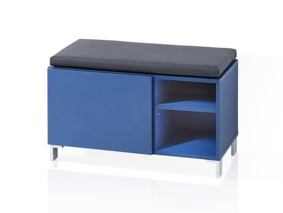 KALI Bank mit Kissen,  Material MDF blau DETAIL_IMAGE
