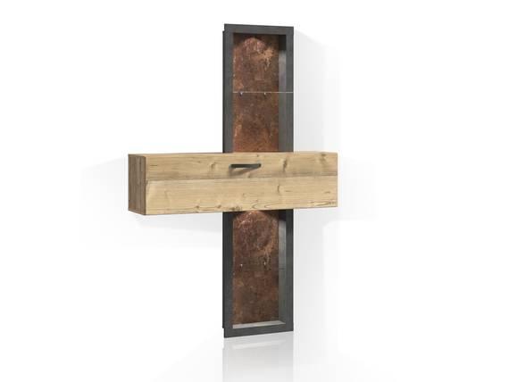 KALIMA Regal, Material Dekorspanplatte, fichtefarbig/betonfarbig  DETAIL_IMAGE