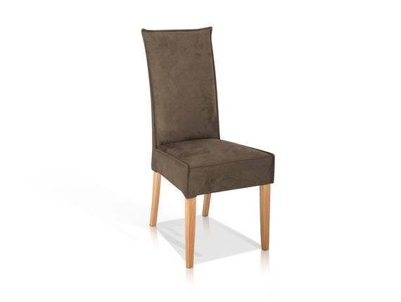 KARI Polsterstuhl/Hochlehner mit Komfortsitz, Material Kunstfaser/Massivholz nougat DETAIL_IMAGE
