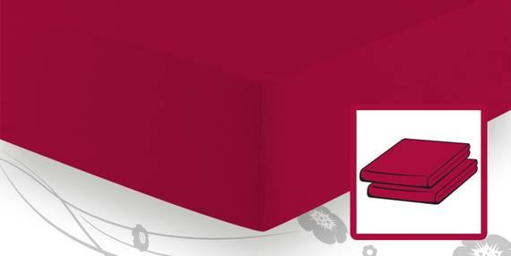 Schlafgut ELASTIC-JERSEY Boxspringbetttuch/Boxspringbettlaken 90/100x200/220 kirsche DETAIL_IMAGE