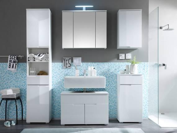 sandra badezimmer set 5tlg wei. Black Bedroom Furniture Sets. Home Design Ideas
