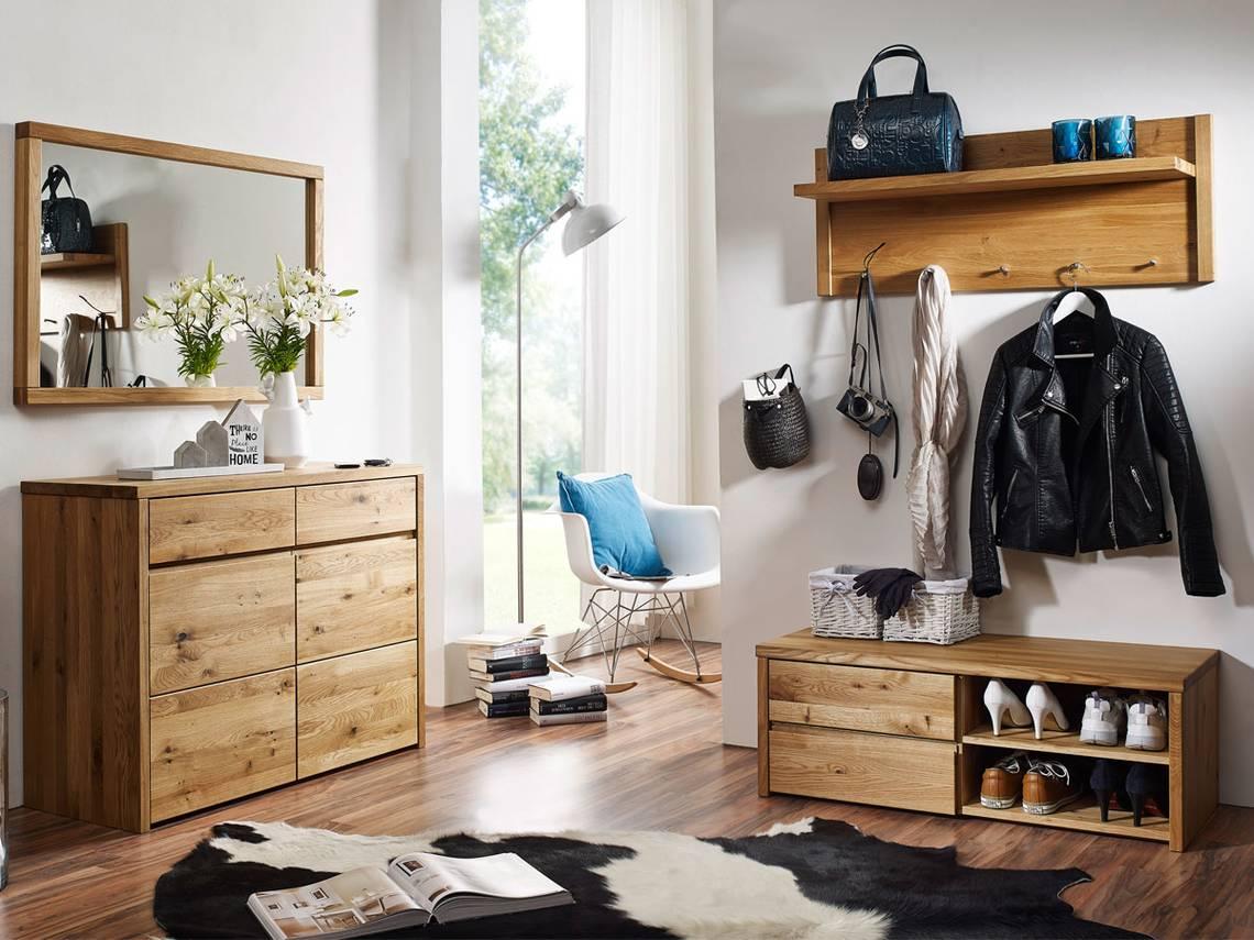 Stean ii garderobenset wildeiche for Garderobe komplett programme