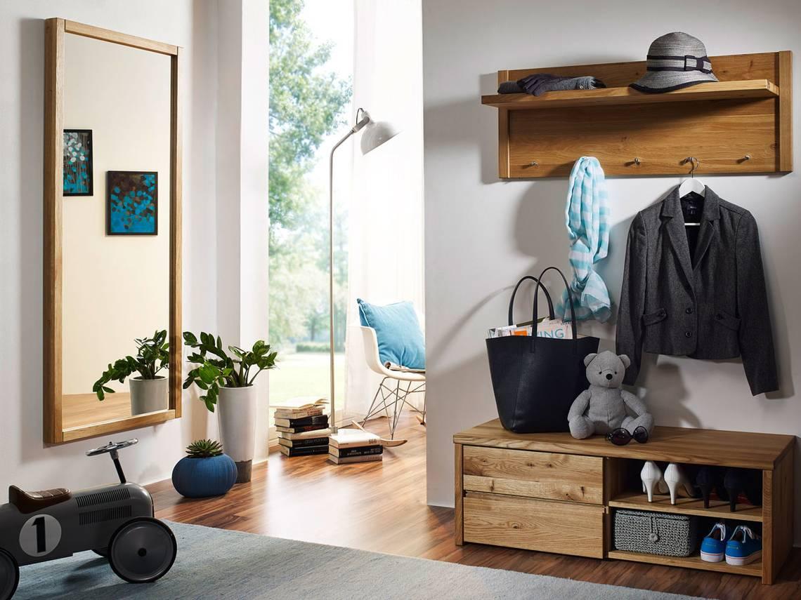 Stean i garderobenset wildeiche for Garderobe komplett programme