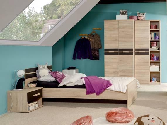 garry komplett jugendzimmer eiche s gerau lavagrau. Black Bedroom Furniture Sets. Home Design Ideas