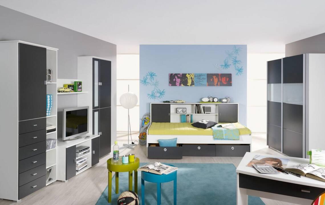COOKIE III Komplett-Schlafzimmer 136 cm | Alpinweiss/grau DETAIL_IMAGE 1