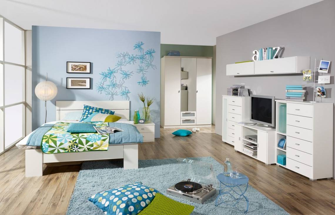 Cookie i komplett schlafzimmer 91 cm alpinweiss for Kinder und jugendzimmer komplett