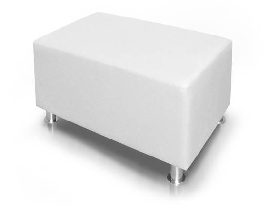 KUBO Sitzwürfel, Material Kunstleder, 90 cm weiss DETAIL_IMAGE
