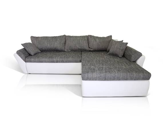 lacie ecksofa eckcouch weiss hellgrau rechts. Black Bedroom Furniture Sets. Home Design Ideas