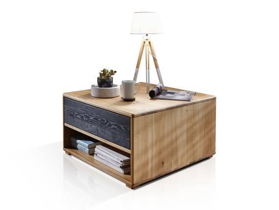 LAGOS Couchtisch I, Material Massivholz, Wildeiche/Schubkastenfront grau  DETAIL_IMAGE