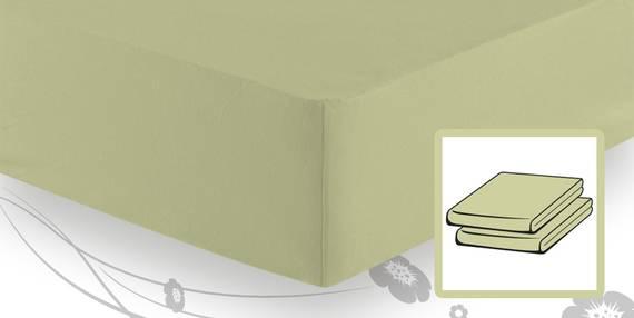 Schlafgut BASIC MAKO-Jersey Spannbettlaken 90x200 bis 100x200 cm lind DETAIL_IMAGE