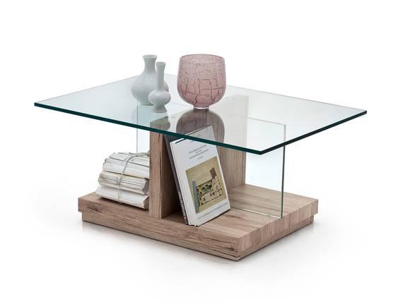LISA Couchtisch Eiche San RemoKlarglas