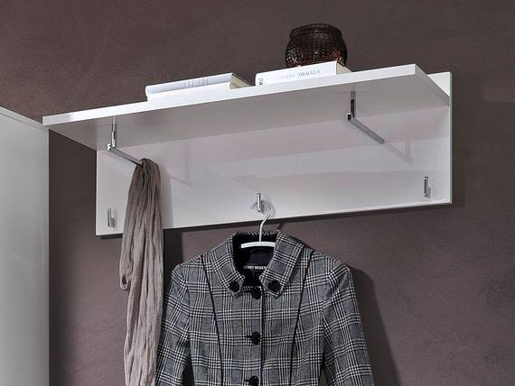 LIVE Garderobenpaneel, Material Dekorspanplatte, weiss  DETAIL_IMAGE