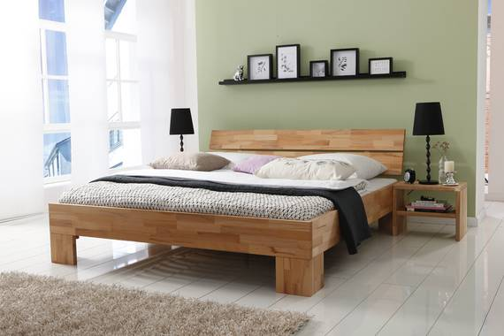 LÖWEN/Woodline Doppelbett/Massivholzbett 160 x 200 | Buche geölt | Löwe DETAIL_IMAGE