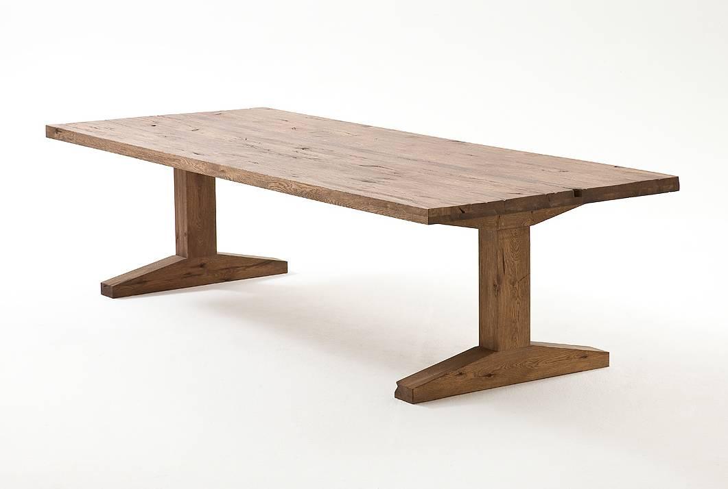 Esstisch Massivholz Reduziert : LORENZ Massivholz Esstisch Eiche, jeder Tisch ein Unikat 300×120 cm