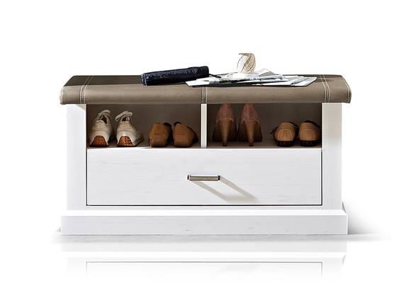 LOUISA Sitzbank, Material Dekorspanplatte, piniefarbig/taupe  DETAIL_IMAGE