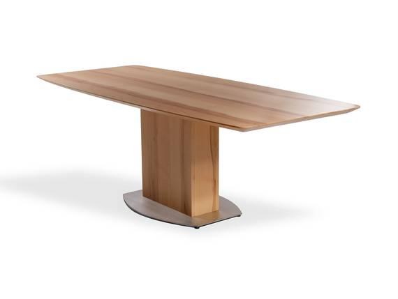 TALINA Maßesstisch / Säulenesstisch, Material Massivholz/Edelstahl  DETAIL_IMAGE