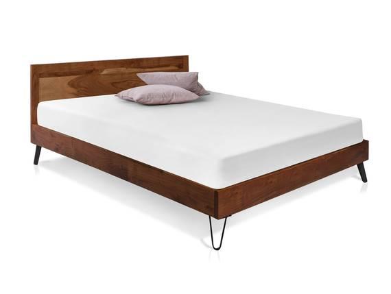 MAIRO Doppelbett, Material Massivholz, Akazie lackiert 160 x 200 cm DETAIL_IMAGE